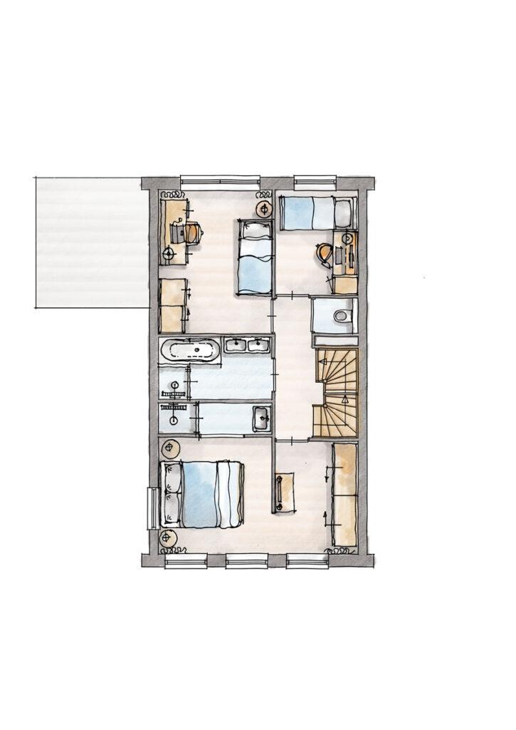 """Indelingsvariant """"Hotelsuite"""" extra complete master bedroom"""