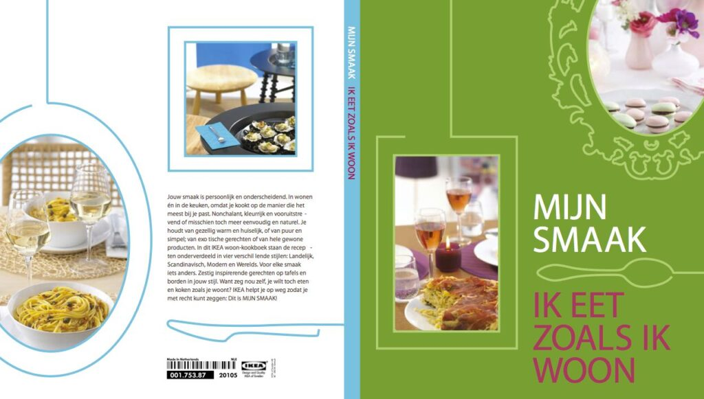 Concept en stylingcoördinatie IKEA kookboek