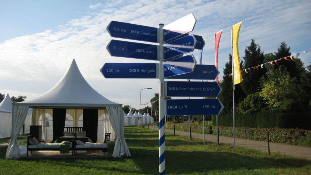 Eventdesign + productie IKEA Droomkamerdorp