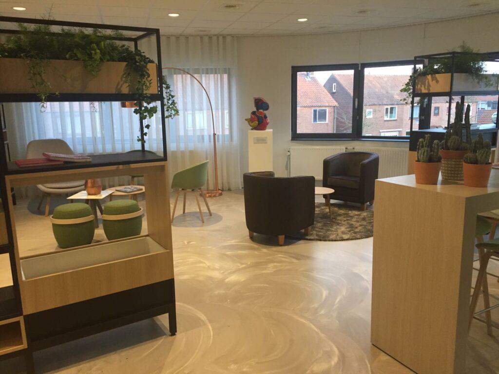Interior design en styling Relaxruimte BAM Bunnik