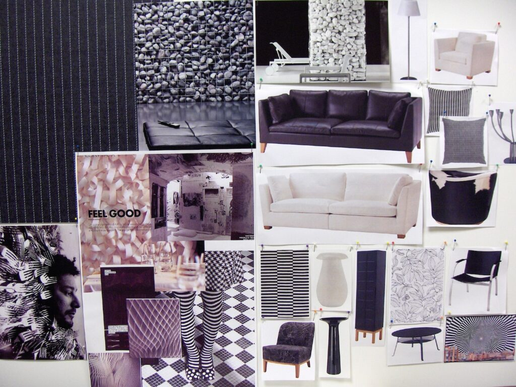 """Interior design moodboard d.project IKEA """"chess lounge"""""""